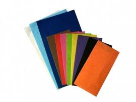 Vlakke kadozakjes Uni kraft; 0674-uni 7x13 cm, verpakt per 1.000 stuks, diverse kleuren.