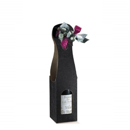 Bottle Bag 1-fles, 9x9x41cm, verpakt per 100 stuks (diverse kleuren)