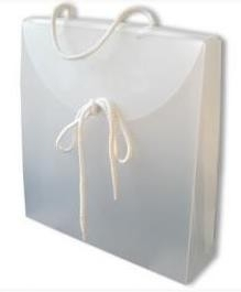Geschenkverpakkingen: Gift Bag,  27x7x32cm, FROSTED WHITE, verpakt per 50 stuks