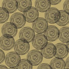 Inpakpapier  kraft, 401759/3-50 CIRCLES BLACK