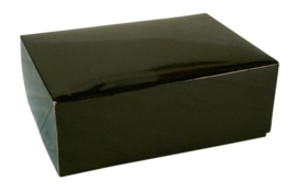 Gift Box GLOSSY 20x14x7cm, ZWART, verpakt per 100 stuks