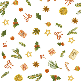 Inpakpapier glanzend K691936-50 TRADITIONAL XMAS ICONS