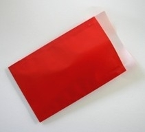 Vlakke kadozakjes Glossy; 0674-uni 12x19 cm, verpakt per 1.000 stuks, Rood