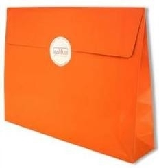 Trendy Envelopes glansgeplastificeerd, ORANJE  Medium 30x6x22cm+7cm, verpakt per 100 stuks