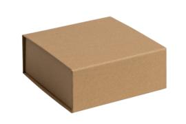 Magneetdoos ongelamineerd, 14x14,5x5,7cm, verpakt per 25 stuks. Wit, bruin of zwart.