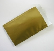 Vlakke kadozakjes Glossy; 0674-uni 12x19 cm, verpakt per 1.000 stuks, Goud