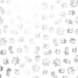Sinterklaaspapier GEMETALLISEERD 891080/3-50 Pakjes wit, 125 meter