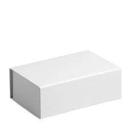 Gift Box DeLuxe; luxe geschenkdoos mat gelamineerd, WIT 32x23x12cm, A4, verpakt per 25 stuks.