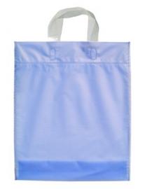 Kunststof draagtas met lus handgreep formaat 30x35+5cm, ijsblauw, verpakt per 500 stuks.
