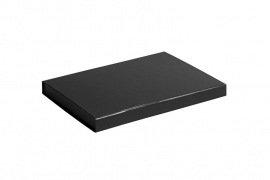 Gift Box DeLuxe; luxe geschenkdoos mat gelamineerd, ZWART 31x22x2,5cm, A4, verpakt per 25 stuks.