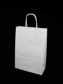 Paper Toptwist formaat 26x12x34cm, wit effen, verpakt per 250 stuks.