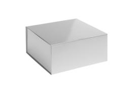 Magneetdoos glans gelamineerd, 23x23x11cm, verpakt per 25 stuks. Rood, zilver of goud.