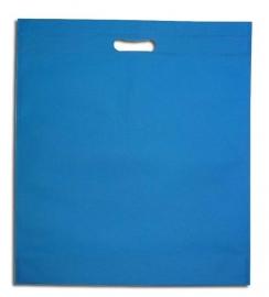 Non Woven draagtas met uitgestanste handgreep formaat 40x45+5cm, aqua, verpakt per 250 stuks