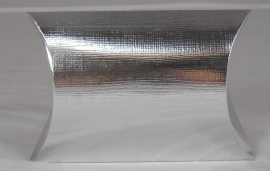 Metal Pillow, formaat small; 7x7x2,5cm, SILVER, verpakt per 200 stuks