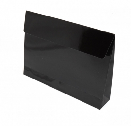 Trendy Envelopes glansgeplastificeerd, BLACK  Medium 30x6x22cm+7cm, verpakt per 100 stuks