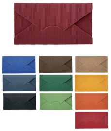 Envelope, 22,3x3x11,5cm, verpakt per 150 stuks (diverse kleuren)