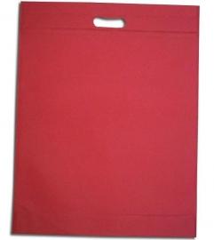 Non Woven draagtas met uitgestanste handgreep formaat 35x45+5cm, hotpink, verpakt per 250 stuks.
