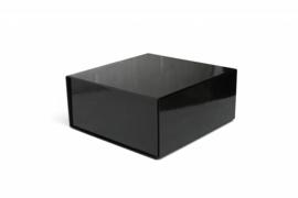 Magneetdoos glans gelamineerd, 15x15x5cm, verpakt per 50 stuks, zwart.