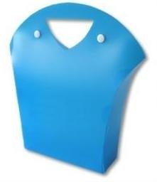 Frosty Beauty Bag, BLUE 16x6x26,5 cm, verpakt per 100 stuks.