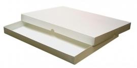 Gift Box A4, 32x23x2,5 cm, WHITE, verpakt per 50 stuks