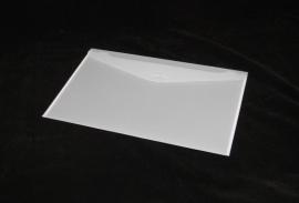 Luxe Gift Envelopes small 19x12cm, WHITE FROSTED, verpakt per 100 stuks.