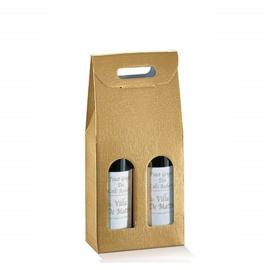 Bottle Box 2-flessen, 18x9x38,5cm, verpakt per 30 stuks (diverse kleuren)