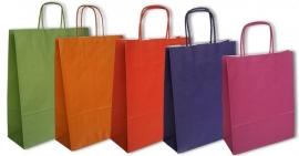 Paper Toptwist Colourline formaat 14x7x19cm, diverse kleuren, verpakt per 250 stuks