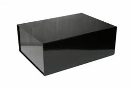 Magneetdoos glans gelamineerd, 40x30x15m, verpakt per 25 stuks, zwart.