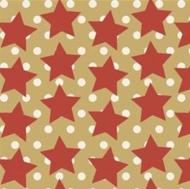 Inpakpapier kraft K491427/6-50 STARS IN THE SKY RED/WHITE