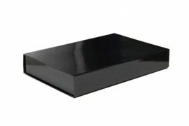 Magneetdoos glans gelamineerd, 37x26x6cm, verpakt per 25 stuks, zwart.