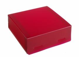 Gift Box medium 15x5x15cm DARK PINK, verpakt per 100 stuks.