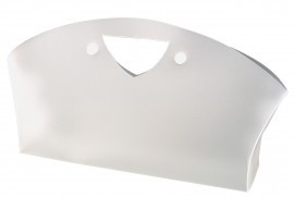 Frosty Beauty Bag, FROSTED WHITE, 34x7,5x20 cm, verpakt per 100 stuks.