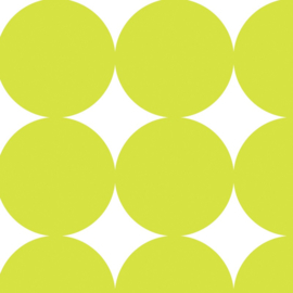 Inpakpapier glanzend 601311/1-50 BIG DOTS LIME