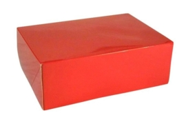 Gift Box GLOSSY 20x14x7cm, ROOD, verpakt per 100 stuks