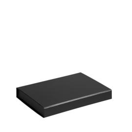 Magneetdoos ongelamineerd, 22x16,5x3cm, verpakt per 25 stuks. Wit, bruin of zwart.