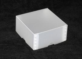 Gift Box, small 8x4x8 cm, WHITE FROSTED verpakt per 100 stuks