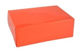 Gift Box GLOSSY 20x14x7cm, ORANJE, verpakt per 100 stuks.