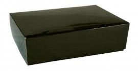 Gift Box GLOSSY 30x22x7cm, ZWART, verpakt per 100 stuks