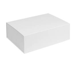 Box in the Box; luxe geschenkdoos beplakt met Wibalin®, WIT 31x22x10cm, verpakt per 10 stuks.