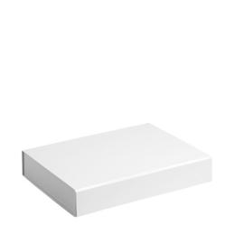 Gift Box DeLuxe; luxe geschenkdoos mat gelamineerd, WIT 31x22x5cm, A4, verpakt per 25 stuks