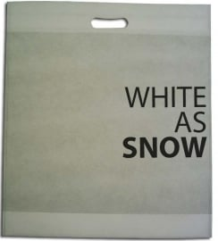 NON Woven draagtas, BEDRUKT MET UW LOGO formaat 40x45+5cm, white. Vanaf 250 stuks.
