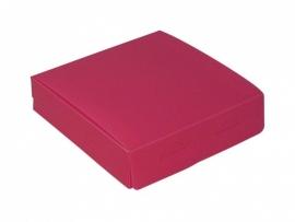 Gift Box medium 12x3x12cm Hotpink, verpakt per 100 stuks