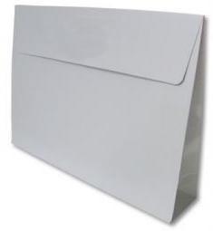Trendy Envelopes glansgeplastificeerd, WHITE Medium 30x6x22cm+7cm, verpakt per 100 stuks