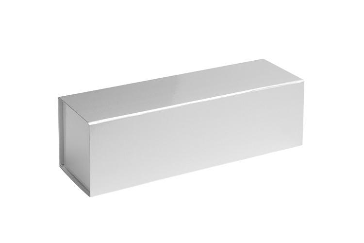 Magneetdoos glans gelamineerd, 32,5x10x10cm, verpakt per 25 stuks. Rood, zilver of goud.