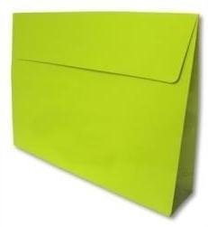 Trendy Envelopes glansgeplastificeerd, LIME  Medium 30x6x22cm+7cm, verpakt per 100 stuks