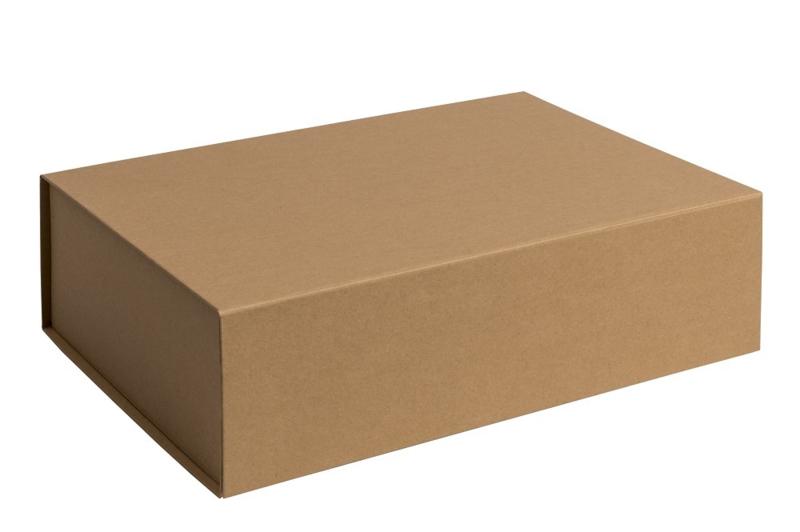 Magneetdoos ongelamineerd, 34,5x25x10cm, verpakt per 25 stuks. Wit, zwart of bruin.