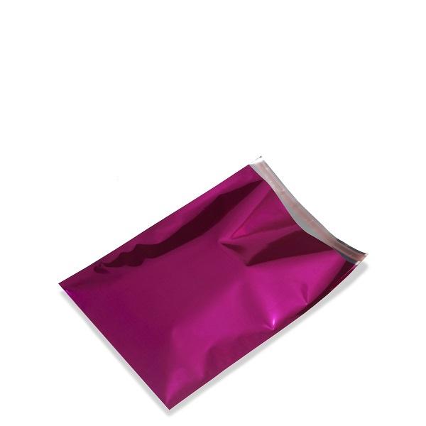 Gemetalliseerde cadeauzakjes, 15x23,5+3 cm, met plakstrip, verpakt per 100 stuks