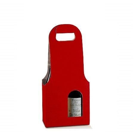 Bottle Bag 2-flessen, 18x9x41cm, verpakt per 40 stuks (diverse kleuren)