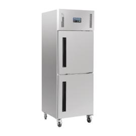 RVS koeling, Koelkast  met gedeelde deur 600 Liter