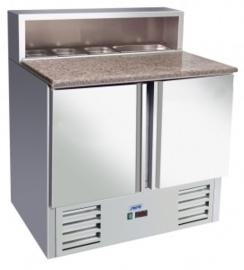 Pizza koelwerkbank RVS  2 Deuren